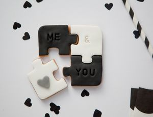 'Me And You' Biscuit Puzzle - biscuits and cookies