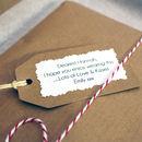 gift wrap + Tag (optional)