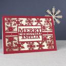 Personalised Name Christmas Card