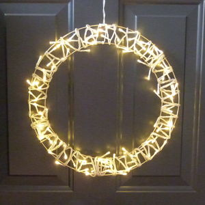 Fairy Light Wreath - christmas lights