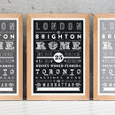 'Our Travels' Personalised Destinations Print