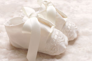 Boys Christening Booties 'Vienna'