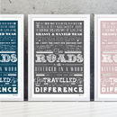 'A Road Less Travelled' Poem Print