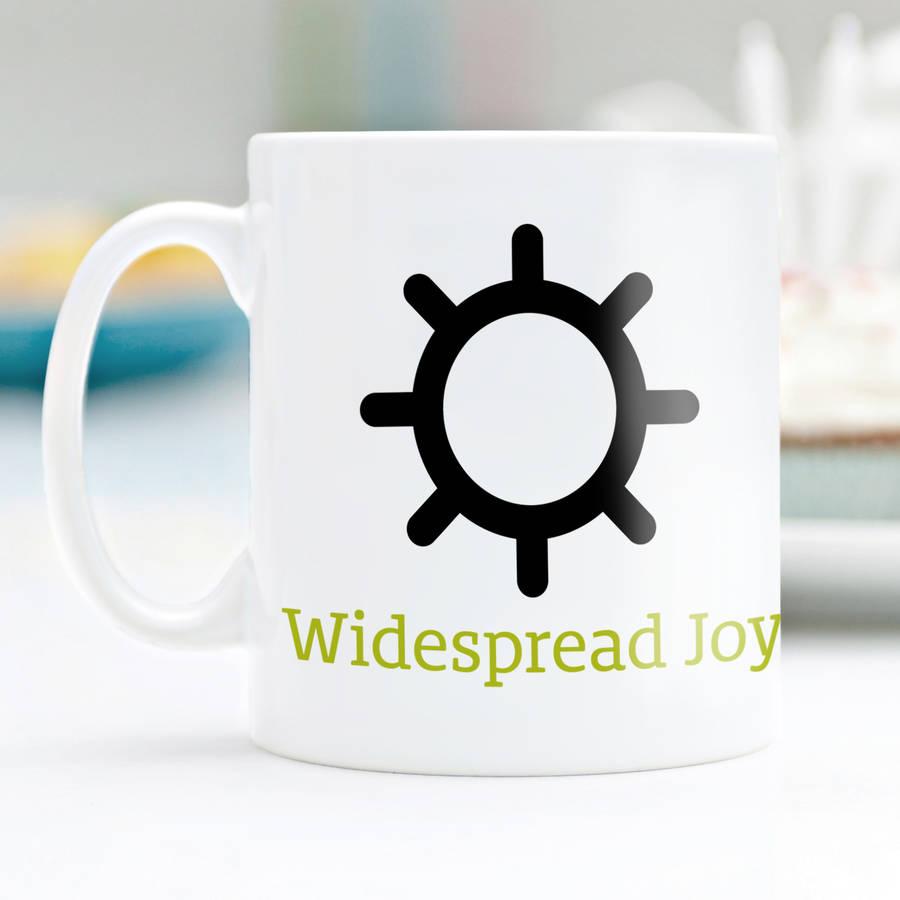 Weather Symbols Guide Mug