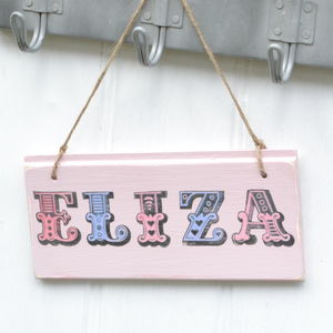 Childrens Bedroom Door Sign Personalised
