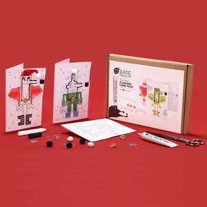Robot Parade Flashing Card Activity Pack - birthday cards