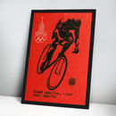 1980 Moscow Olympics Cycling Print