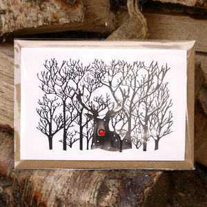 Rudolf Christmas Card - cards & wrap