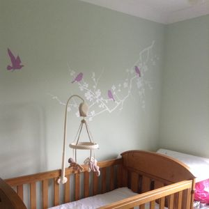 Childrens Birds On Branch Wall Stickers - home sale