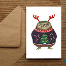 Grumpy Owl Christmas Cards
