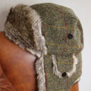 'Lerwick' Harris Tweed Trapper Hat