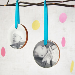 Personalised My First Christmas Photo Bauble - wall hangings for children