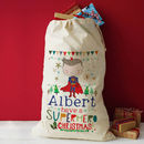 Personalised Superhero Christmas Gift Sack