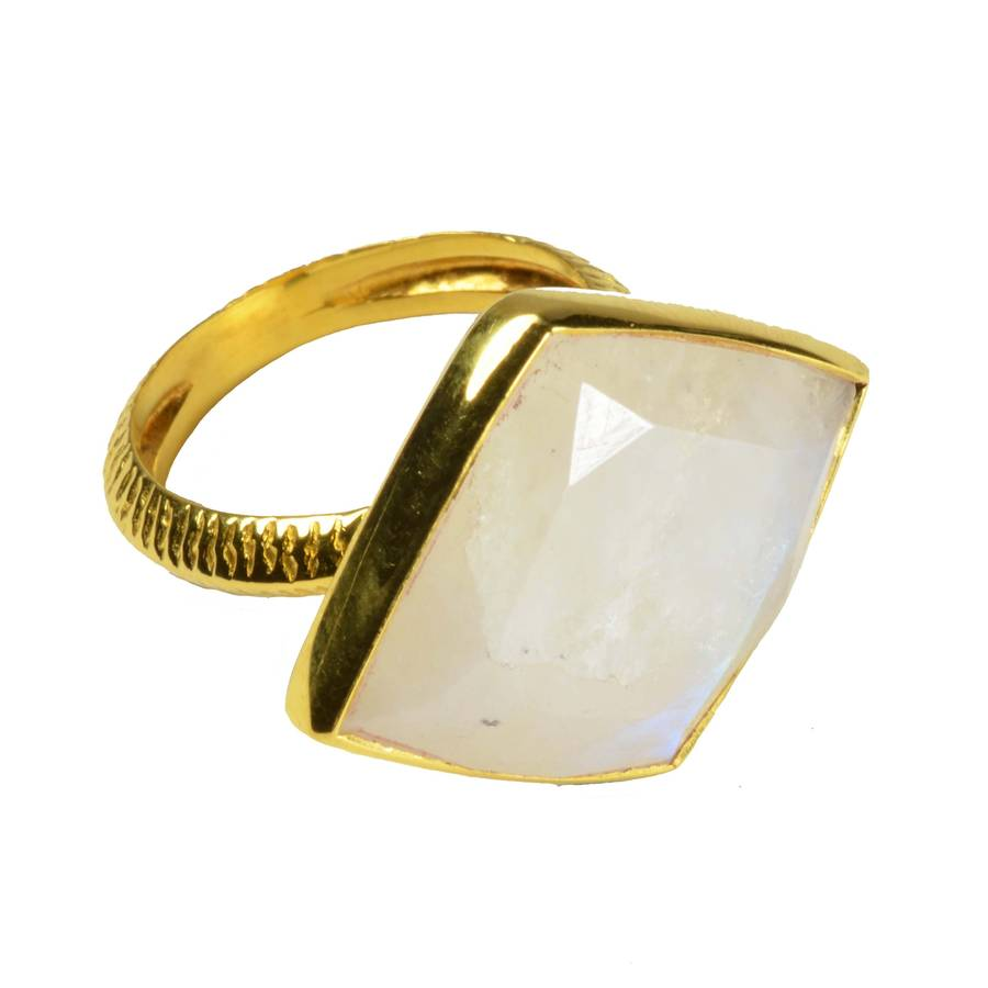 Phoenix Ring Moonstone And Gold