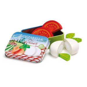 Wooden Mozzarella And Tomato Salad In A Tin Toy - toys & games