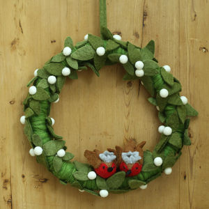 Felt Robin Wreath