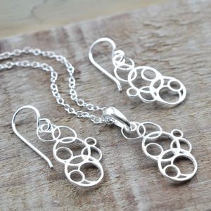 Silver Bubbles Jewellery Set