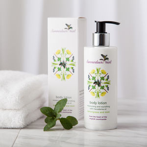 Lemongrass And Mint Body Lotion - bathroom
