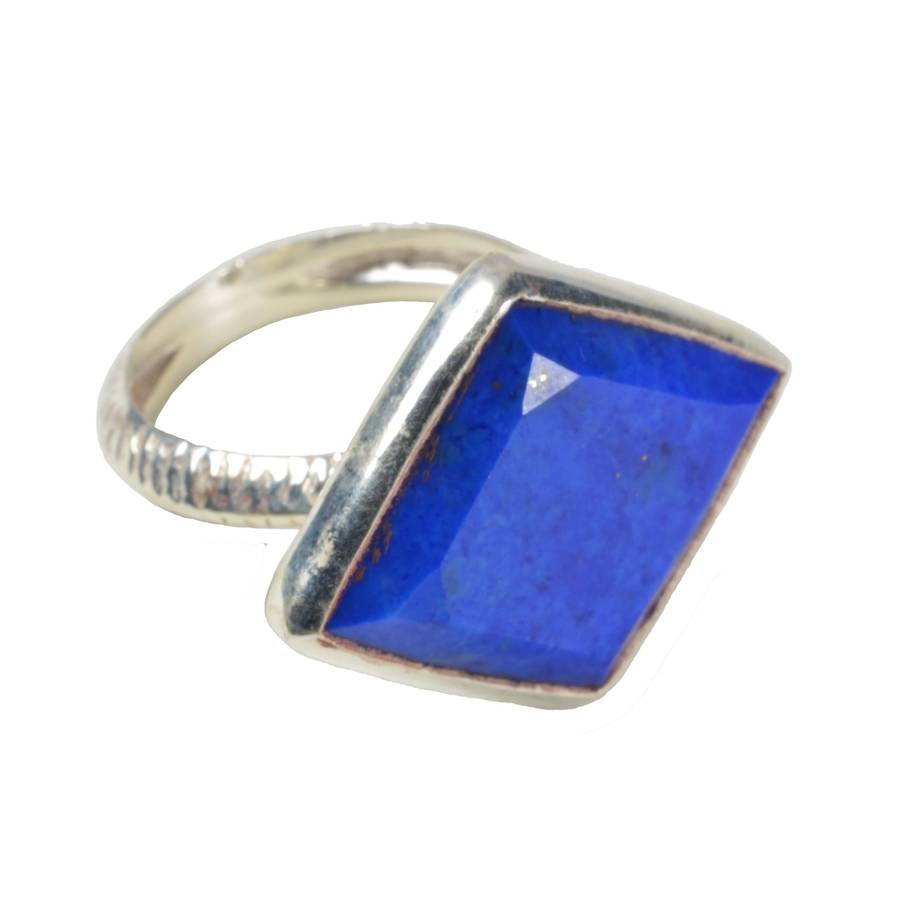 Phoenix Ring Lapis And Silver