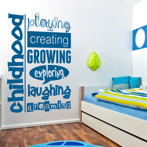 'Childhood Dreaming' Wall Sticker