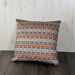 Regimented Fox Large Floor Cushion In Teal And Orange - cushions