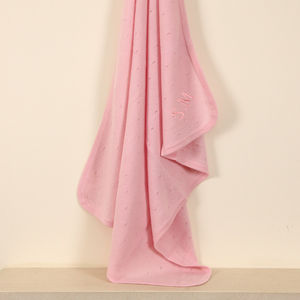 Personalised 100% Cashmere Blanket Pink