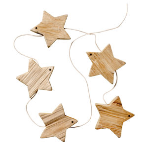 Driftwood Star Garland - christmas parties & entertaining