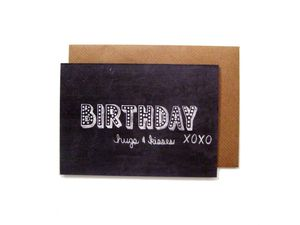 'Birthday Hugs And Kisses' Birthday Card