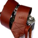 Personalised Retro Leather Camera Strap