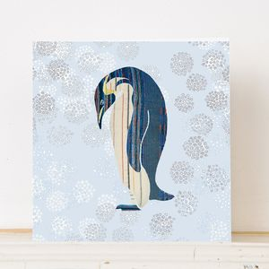 Penguin In The Snow Christmas Card - cards & wrap