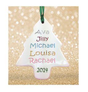 Christmas Engraved Family Tree Grandchildren - children's pictures & paintings