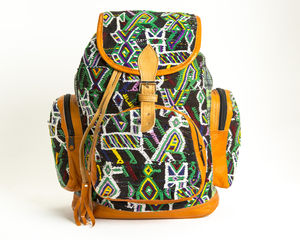 Dolly Aztec Leather Backpack - backpacks