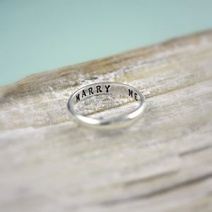 Personalised Secret Script Ring - wedding rings