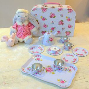 Rose Floral Tea Set - traditional toys & games