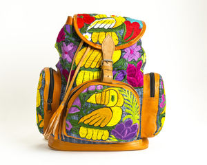 Dolly Toucan Leather Backpack - backpacks