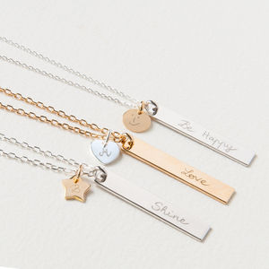 Women's Personalised Slim Tag Necklace - jewellery