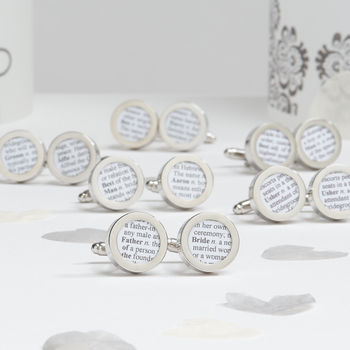 Personalised Wedding Party Cufflinks