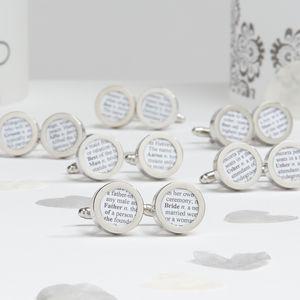 Personalised Wedding Party Cufflinks - cufflinks