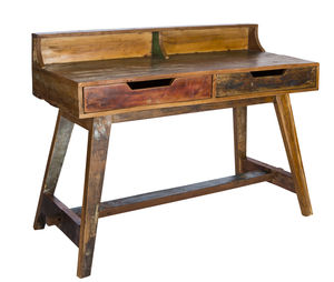 Kruger Reclaimed Wood Writing Desk - furniture