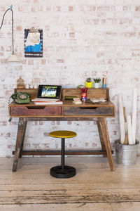 Kruger Reclaimed Wood Writing Desk - office & study