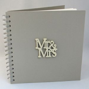 'Mr And Mrs' Wedding Guest Book
