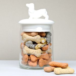 Personalised Engraved Dog Treats Jar - food, feeding & treats