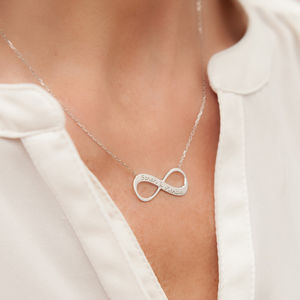 Personalised Infinity Chain Necklace - bridal edit