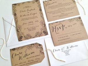 Country Garden Wedding Invitation - invitations