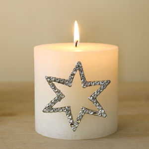 Large Star Diamante Candle Pin - view all decorations
