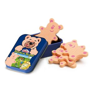 Wooden Teddy Bear Meat In A Tin Toy