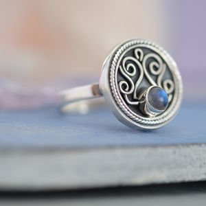 Medusa Moonstone And Silver Ring