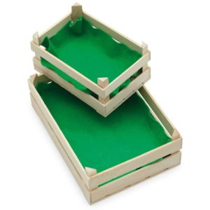 Toy Wooden Fruit And Vegetable Crate - play scenes