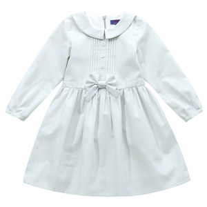 Girl's Kate's Silver Bow Detail Dress - clothing