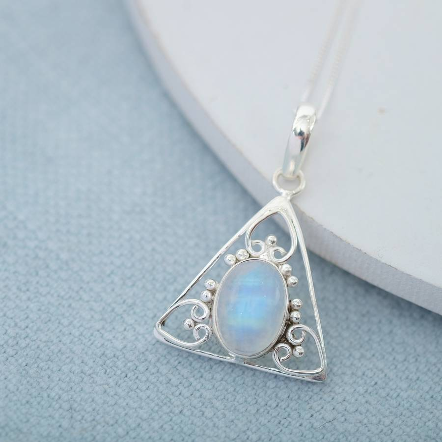 celtic heart moonstone necklace by wanderlust jewellery ...